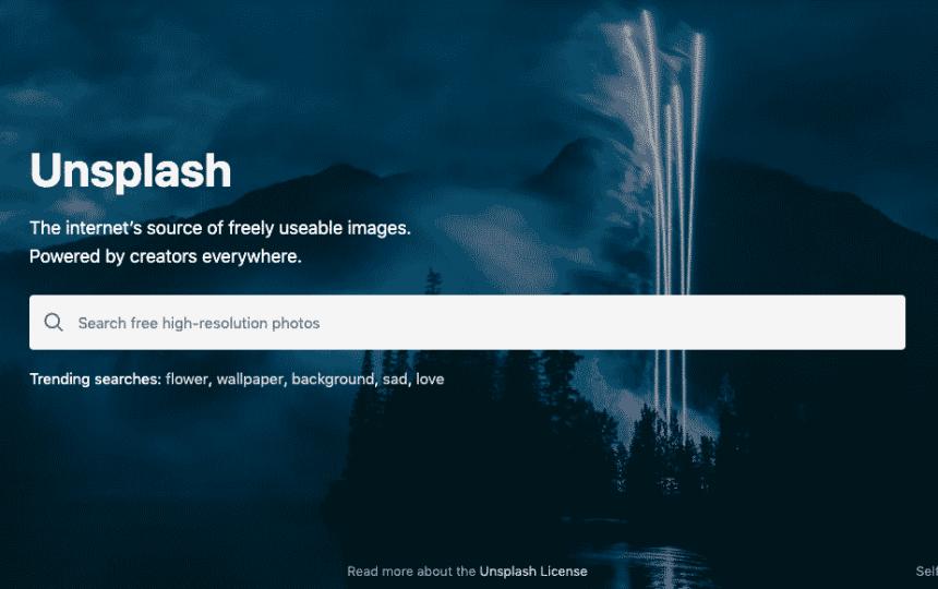 Unsplash est une plateforme d'images gratuites